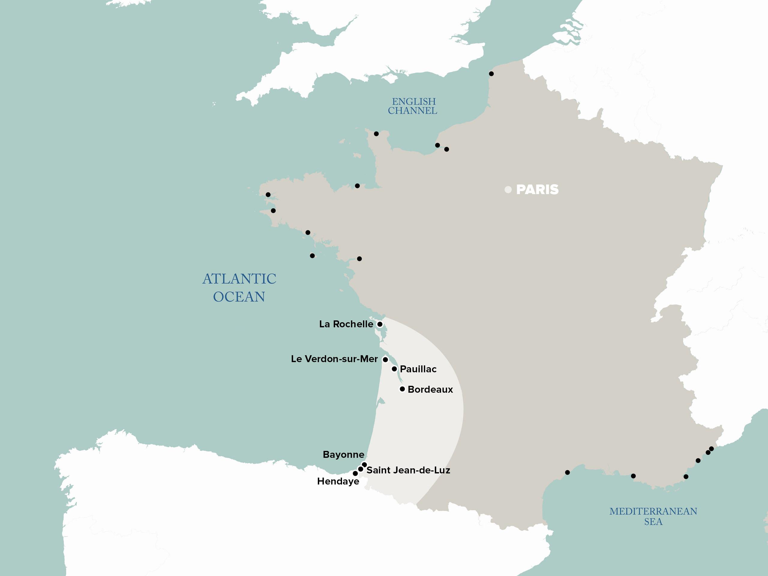 Hendaye France Map.Cruises In The Southwest Of France Keolis Gironde Vs Voyages