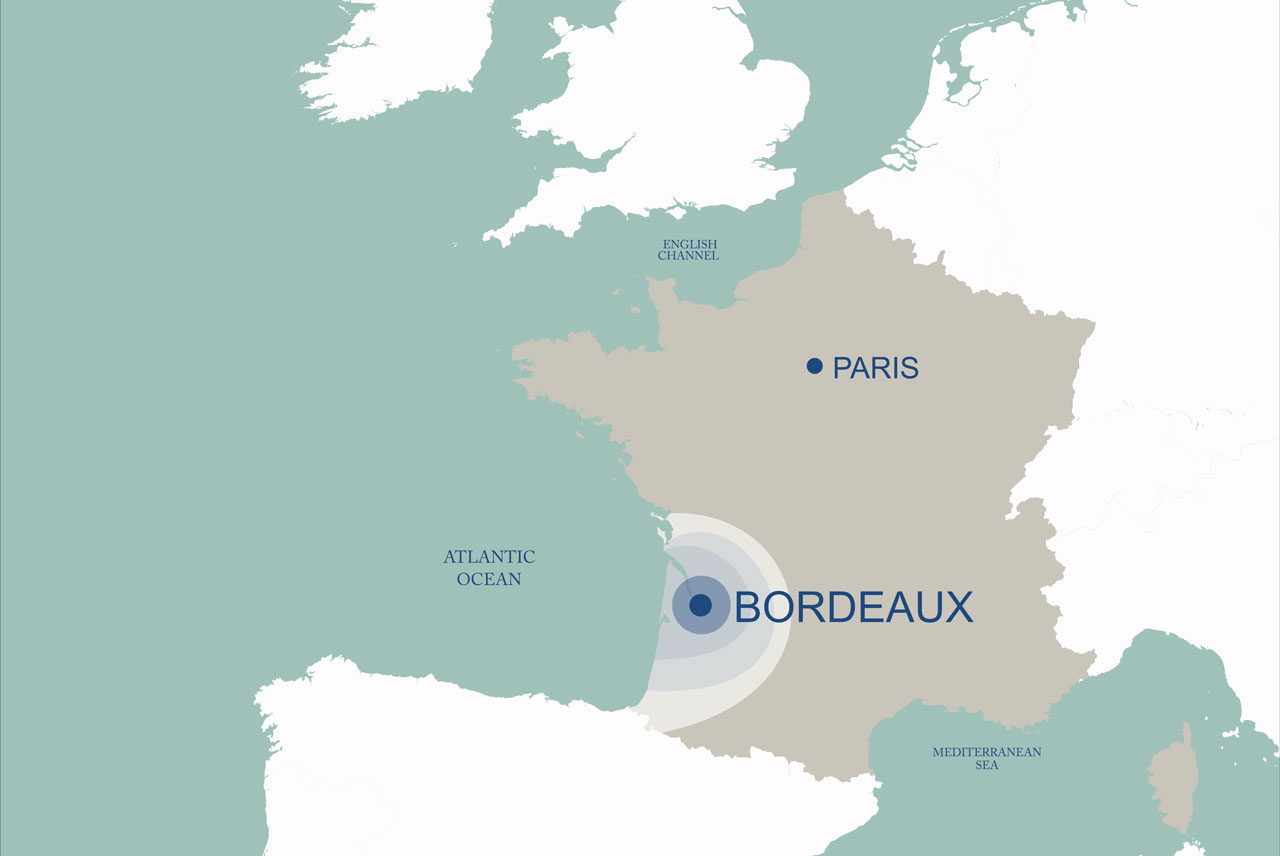The city of Bordeaux, south of France
