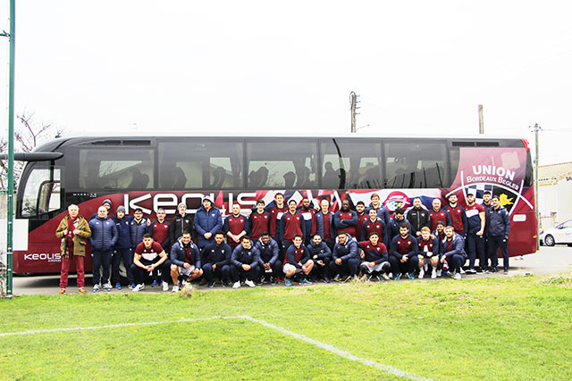 Sports team transport in Gironde by bus
