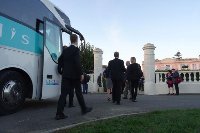 Transport de groupes pour événements professionnels